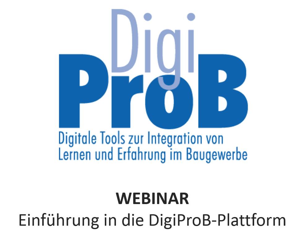 Webinar – Einführung in die DigiProB-Plattform